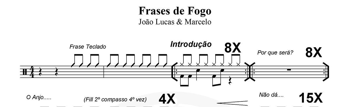 Frases De Fogo João Lucas Marcelo Batera Partituras